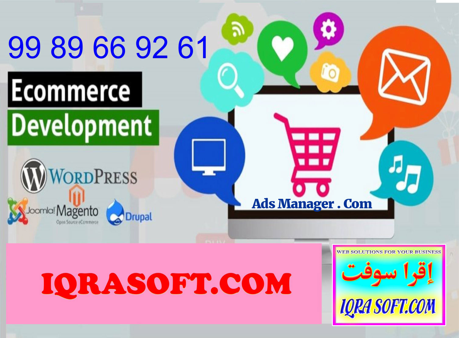 IQRASOFT.COM - Websites solutions Business, Entrepreneurship, Consulting, Advertising, Advanced Digital Marketing Training and Designing and Development Services !